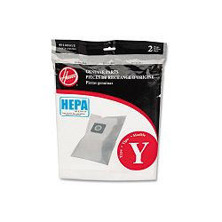 HEPA Y Filtration Bags for Hoover Upright Cleaners Pack of 2 Bags (HVRAH10040)