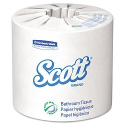 SCOTT 100% Recycled Fiber Bathroom Tissue 2-Ply 506 Sheets per Roll Carton of 80 Rolls (KIM13217)