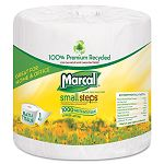 100% Premium Recycled 1-Ply Bath Tissue 1000 Sheets per Roll Carton of 40 Rolls (MRC4415)