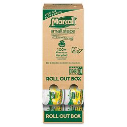 100% Recycled Roll-out Convenience Pack Bathroom Tissue 504 Sheets per Rolls Carton of 48 Rolls (MRC6495)