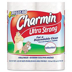 Charmin Ultra Strong Two-Ply Bathroom Tissue 88 Sheets per Rolls Pack of 4 (PAG23992)