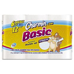 Charmin Basic Big Roll One-Ply 264 Sheets per Roll Pack of 6 (PAG50908)