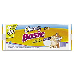Charmin Basic Big Roll One-Ply 264 Sheets Per Roll 20Pack (PAG50916)