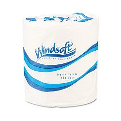 Single Roll Bath One-Ply Bath Tissue 1000 Sheets per Roll Carton of 96 Rolls (WNS2210)