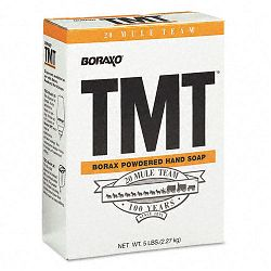 Boraxo TMT Powdered Hand Soap Unscented Powder 5 Lb. Box (DPR02561EA)