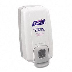 "NXT Instant Hand Sanitizer Dispenser 1000 mL. 5-18""w x 4""d x 10""h WhiteGray (GOJ212006)"