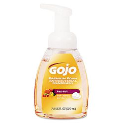 Premium Foam Antibacterial Hand Wash Fresh Fruit Scent 7.5 oz Pump (GOJ571006)