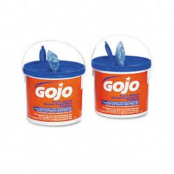 "FAST WIPES Hand Cleaning Towels Cloth 9"" x 10"" White 225 per Bucket Carton of 2 Buckets (GOJ629902CT)"