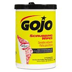 "Scrubbing Wipes Heavy Duty Hand Cleaning 10 12"" x 12 14"" Canister of 72 (GOJ639606)"