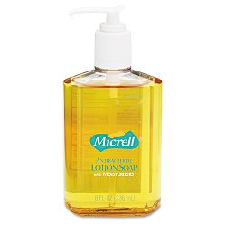 MICRELL Antibacterial Lotion Soap Unscented Liquid 8 oz Pump Carton of 12 (GOJ975212CT)