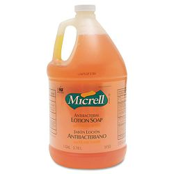 MICRELL Antibacterial Lotion Soap Unscented Liquid 1 Gallon Bottle Carton of 4 (GOJ975504CT)