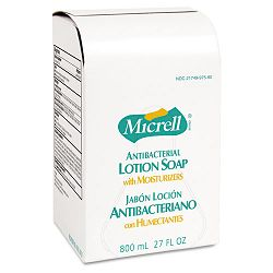MICRELL Antibacterial Lotion Soap Refill Unscented Liquid 800 mL. Carton of 12 (GOJ975712CT)