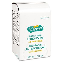 MICRELL Antibacterial Lotion Soap Refill Unscented Liquid 800 mL. (GOJ975712EA)