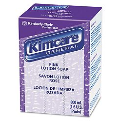 KIMCARE GENERAL Pink Lotion Soap Peach 800 mL. Bag In Box Carton of 12 (KIM91220CT)