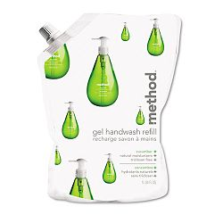 Gel Hand Wash Refill 34 oz. Cucumber Scent Plastic Pouch (MTH00656)