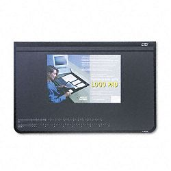 Logo Pad Desktop Organizer with Clear Overlay 31 x 20 Black (AOP41200S)
