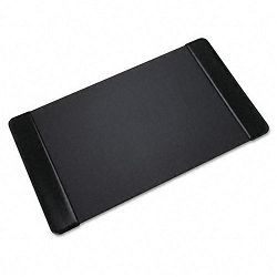 "Executive Desk Pad with Leather-Like Side Panels 36"" x 20"" Black (AOP413861)"