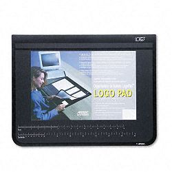 "Logo Pad Desktop Organizer with Clear Overlay 22"" x 17"" Black (AOP41700S)"