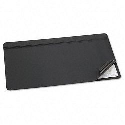 "Hide-Away PVC Desk Pad 31"" x 20"" Black (AOP48043S)"