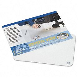 "KrystalView Desk Pad with Matte Finish 17"" x 12"" Clear (AOP60740S)"