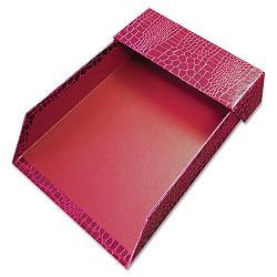 "ProFormance Crocodile Memo Tray for 4"" x 6"" Notes Red (AUA10202)"
