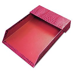 ProFormance Letter Tray Crocodile Pattern Red With Roof (AUA10203)