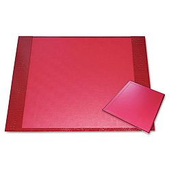 "Eco-Friendly Croc Embossed Desk Pads and Mouse Pads 24 12"" x 19"" Red (AUA10207S)"