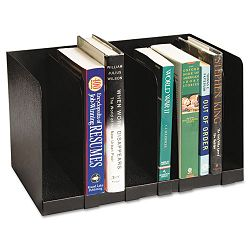 "Six Section Book Rack with Dividers Steel 15 x 9 14"" x 9 14 Black (BDY5704)"