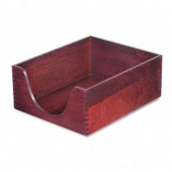Hardwood Letter Stackable Desk Tray Mahogany (CVR08213)