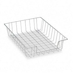 Workstation Letter Desk Tray Organizer Wire Silver (FEL60012)
