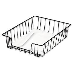 Workstation Letter Desk Tray Organizer Wire Black (FEL60112)