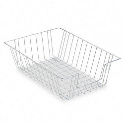 Workstation Legal Size Desk Tray Organizer Single-Tier Wire Silver (FEL65012)