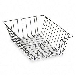 Workstation Legal Size Desk Tray Organizer Two Tier Wire Black (FEL65112)