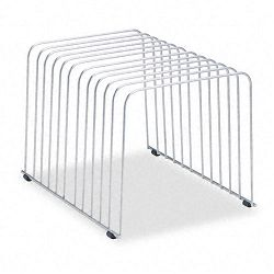 "Desktop Organizer 11 Sections Wire 9"" x 11 38"" x 8"" Silver (FEL72012)"