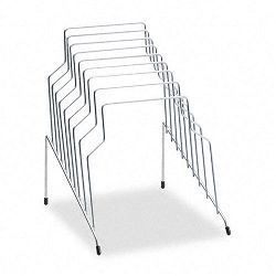 "Step File Eight Sections Wire 10 18"" x 12 18"" x 11 78"" Silver (FEL72604)"