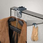 "Pro Series Partition Additions Coat Hook and Clip 1 58"" x 3"" Slate Gray (FEL7501101)"