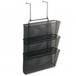 "Mesh Partition Additions Three-File Pocket Organizer 12 58"" x 16 34"" Black (FEL75901)"