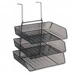 "Mesh Partition Additions Three-Tray Organizer 13 12"" x 11 78"" Black (FEL75902)"
