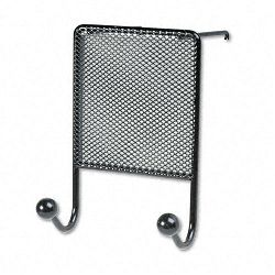 "Mesh Partition Additions Double-Garment Hook 4 12"" x 6"" Black (FEL75903)"
