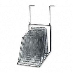 "Mesh Partition Additions Six-Step File Organizer 7 12"" x 10 58"" Black (FEL75904)"