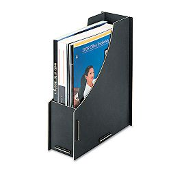 "Recycled Large Magazine File 12 14"" x 4 12"" 10 116"" Black (FEL8015801)"