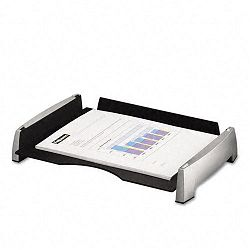Side Load Letter Desk Tray Plastic BlackSilver (FEL8031701)