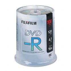 DVD-R Discs 4.7GB 16x Spindle Silver Pack of 100 (FUJ25303101)