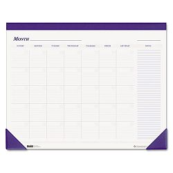 "Nondated Desk Pad Calendar 22"" x 17"" Blue (HOD464)"