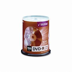 DVD-R Discs 4.7GB 16x Spindle Silver Pack of 100 (IMN18059)