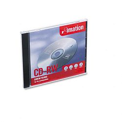 CD-RW Disc 700MB80min 4x with Slim Jewel Cases Silver 1Pack (IMN12381)