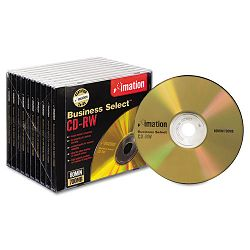 CD-RW Discs 700MB80min 4x with Slim Jewel Cases Gold Box of 10 (IMN16559)