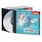 CD-RW Discs 700MB80min 12x with Jewel Cases Silver Pack of 5 (IMN16950)