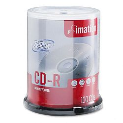 CD-R Discs 700MB80min 52x Spindle Branded Silver Pack of 100 (IMN17262)