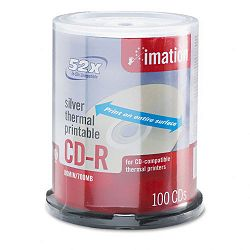 CD-R Discs 700MB80min 52x Spindle Silver Pack of 100 (IMN17276)